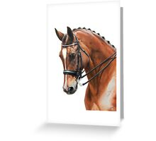 Dressage Portrait Greeting Card