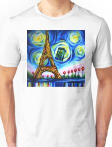 tardis starry night in paris  Unisex T-Shirt