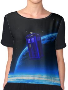 tardis in the sky  Chiffon Top