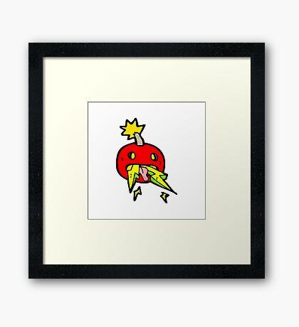 crazy bomb symbol Framed Print
