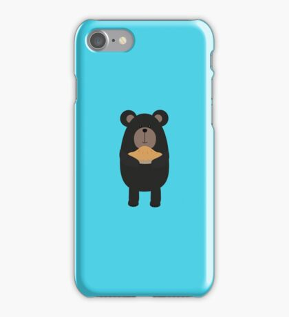 Black Bear with pie iPhone Case/Skin