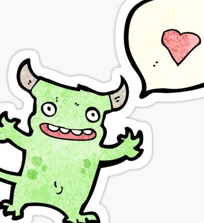 little monster in love cartoon Sticker