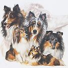 Shetland Sheepdog w/Ghost by BarbBarcikKeith
