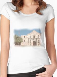 The Alamo Facade Women's Fitted Scoop T-Shirt