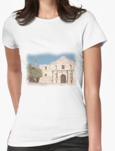 The Alamo Facade Womens Fitted T-Shirt