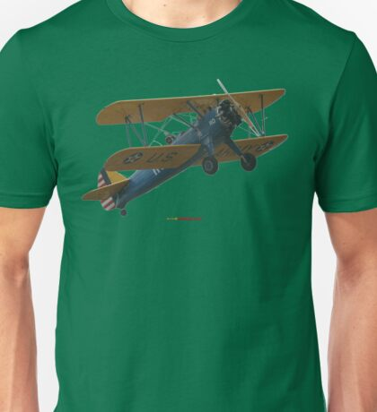 Plane & Simple - Boeing Steerman VH-LSJ Unisex T-Shirt