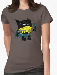 Bat-Sponge Dork Knight Edition Womens Fitted T-Shirt