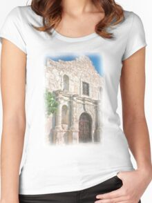 Alamo Facade Women's Fitted Scoop T-Shirt