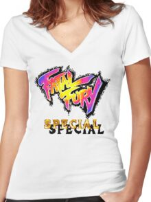 Fatal Fury Special (SNES Title Screen) Women's Fitted V-Neck T-Shirt