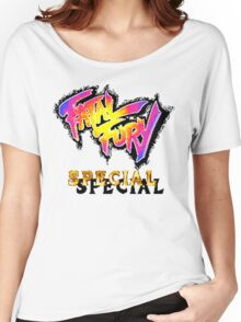 Fatal Fury Special (SNES Title Screen) Women's Relaxed Fit T-Shirt