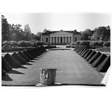Uppsala Botanical Gardens, Black and White Poster