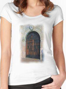 Alamo Door Women's Fitted Scoop T-Shirt