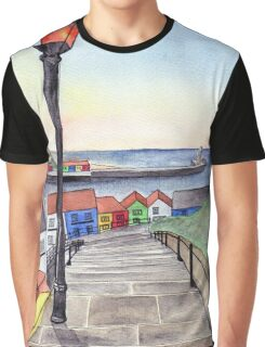The 199 Steps at Sunset Graphic T-Shirt