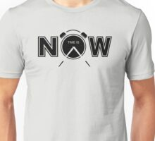 Time Is Now Creative Typography Quote Unisex T-Shirt