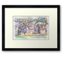 Alamo Arches Framed Print