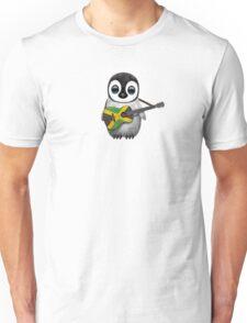 Baby Penguin Playing Jamaican Flag Guitar Unisex T-Shirt