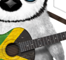 Baby Penguin Playing Jamaican Flag Guitar Sticker