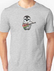 Baby Penguin Playing Kenyan Flag Guitar Unisex T-Shirt