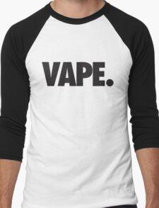 VAPE - BLACK Men's Baseball ¾ T-Shirt