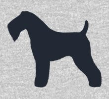 Kerry Blue Terrier Silhouette Kids Clothes