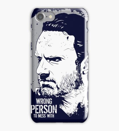 The Walking Dead- Wrong Person To Mess With iPhone Case/Skin