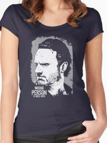 The Walking Dead- Wrong Person To Mess With Women's Fitted Scoop T-Shirt
