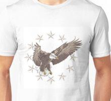 Flying eagle and stars Unisex T-Shirt