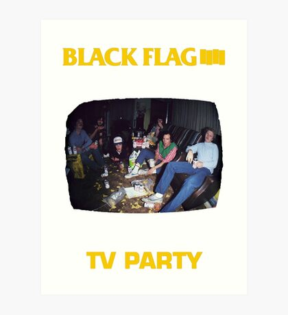 Black Flag - TV Party Art Print