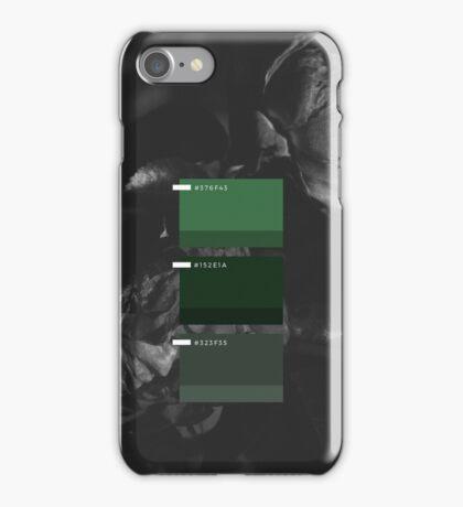 Dark Floral Emerald Palette iPhone Case/Skin