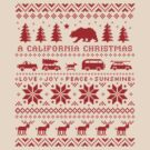 California Christmas Pattern by Jenn Inashvili