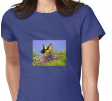 Two-tailed Swallowtail Butterfly Womens Fitted T-Shirt