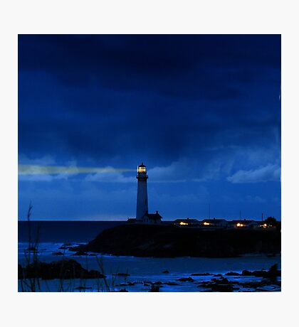 Pigeon Point Lighthouse Shines the Light of Safety, California Photographic Print