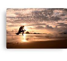 Jump to the sun Canvas Print