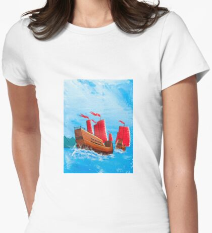 Chinese Ships Womens Fitted T-Shirt