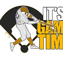 It's Game Time - Baseball (Yellow) by Adamzworld