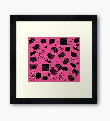 Yarn Pink Framed Print