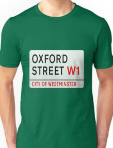 Oxford Street London Street Sign Unisex T-Shirt