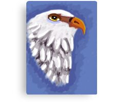 beautiful eagle on blue background Canvas Print