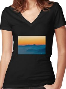 Layers of Sunset Women's Fitted V-Neck T-Shirt