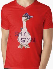 Silly Goose  Mens V-Neck T-Shirt
