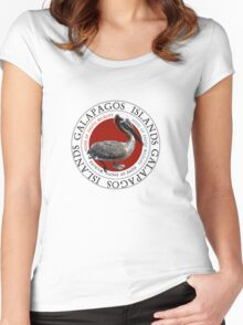 Galapagos Islands Pelican Women's Fitted Scoop T-Shirt