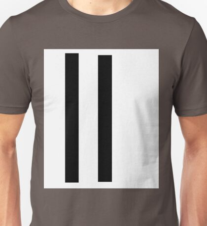 Two Lines Powerful Evocative Post-Modern Commentary Unisex T-Shirt