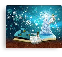 Magic winter book Canvas Print