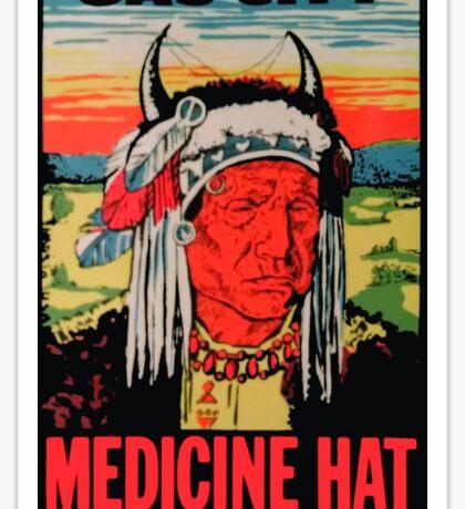 Medicine Hat Alberta Canada Vintage Travel Decal Sticker