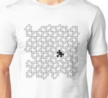 The Missing Piece - Abstract Jigsaw Puzzle Black and White Unisex T-Shirt