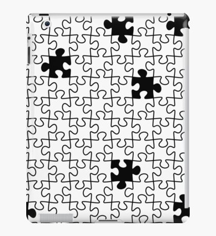 The Missing Piece - Abstract Jigsaw Puzzle Black and White iPad Case/Skin