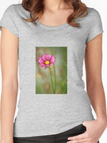 Summer Love Cosmos Flower Women's Fitted Scoop T-Shirt