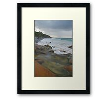 Sandstone rock-pool. Granite Bay. Framed Print