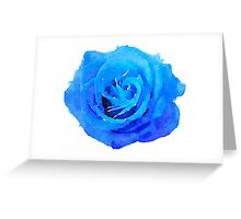 Blue Rose Girly Tumblr 90s Grunge Watercolor Greeting Card