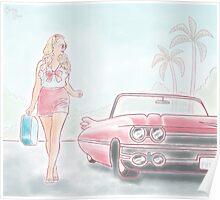 California Cadillac  Poster